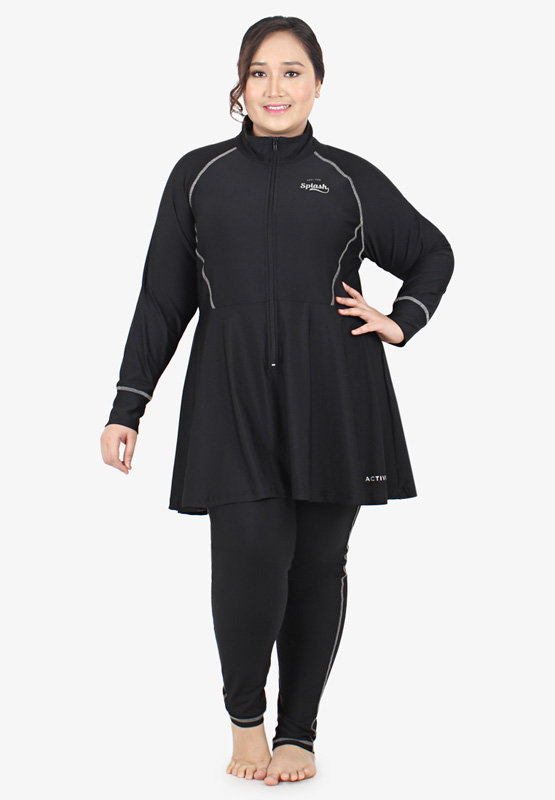 899ed76ebf2 Dolphin Active Plus Size Muslimah Swimming Suit - Black