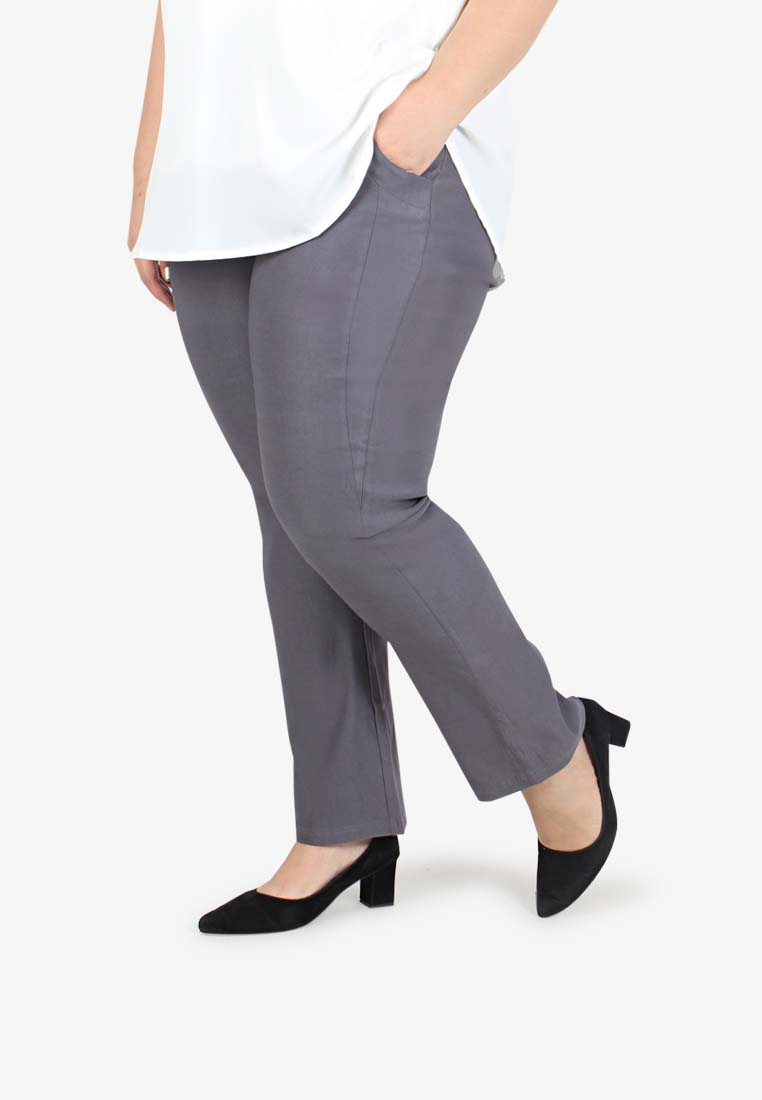 41e43b3ba3673 Lastest Plus Size Clothing Malaysia. Gracie V3.0 Straight Cut Pants  TALL   - Grey
