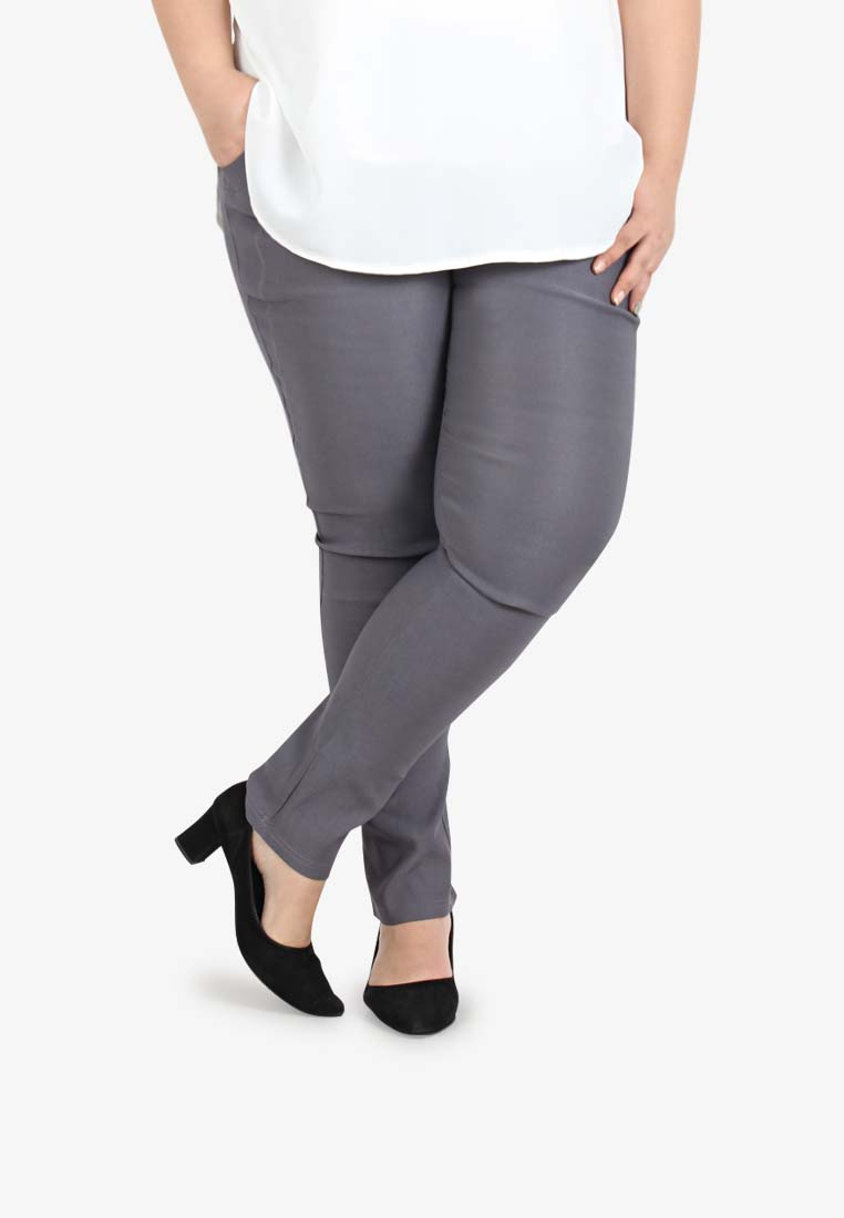 eb3c9dcdddf88 Queenie V3.0 Skinny Pants  TALL  - Grey. Lastest Plus Size Clothing Malaysia