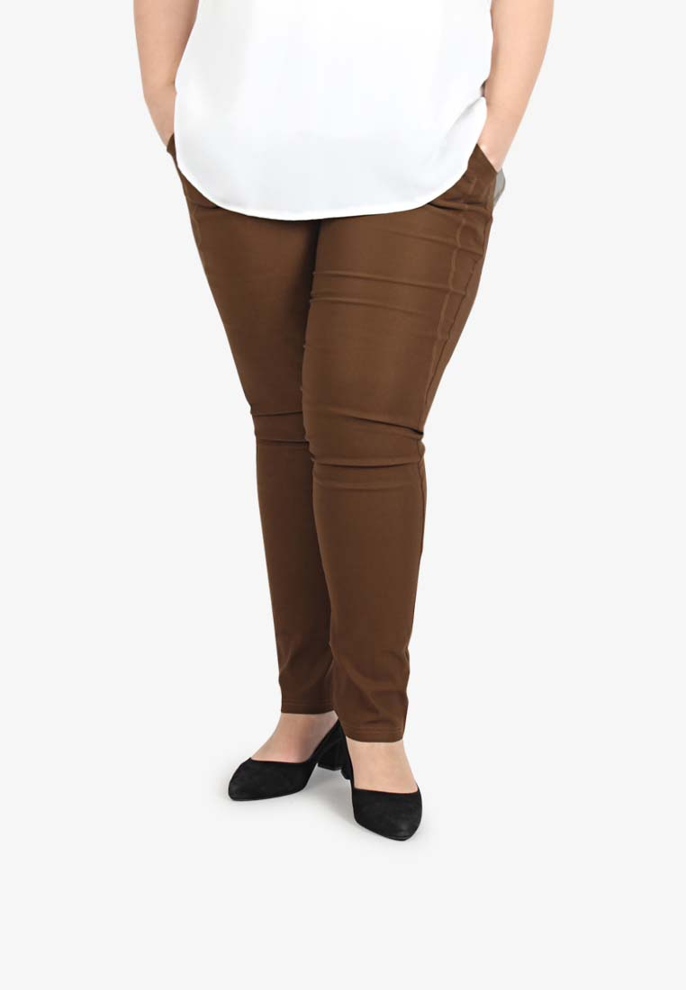 aa6c790f9e8d7 Queenie V3.0 Skinny Pants  TALL  - Brown. Lastest Plus Size Clothing  Malaysia
