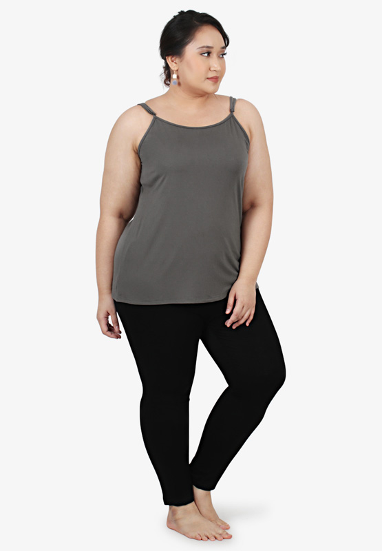 d7284760502 Feena Basic Plus Size Camisole - Grey